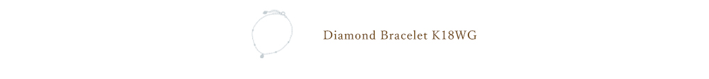 K18ホワイトゴールドダイヤモンドブレスレット